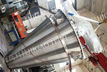 conical screw mixer with heating jacket