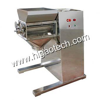 rotary swing oscillating granulator to make granules and particles and pellets